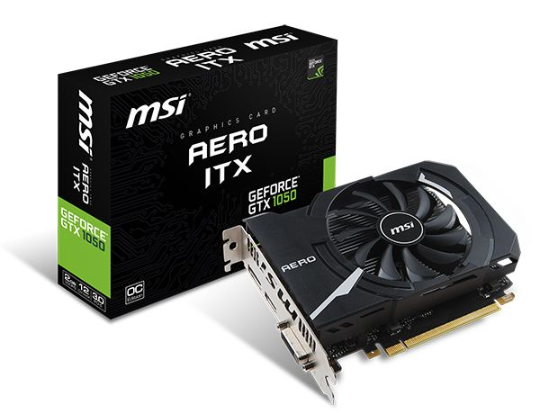 MSI - Carte Graphique GeForce GTX 1050 AERO ITX 2G OC DDR5