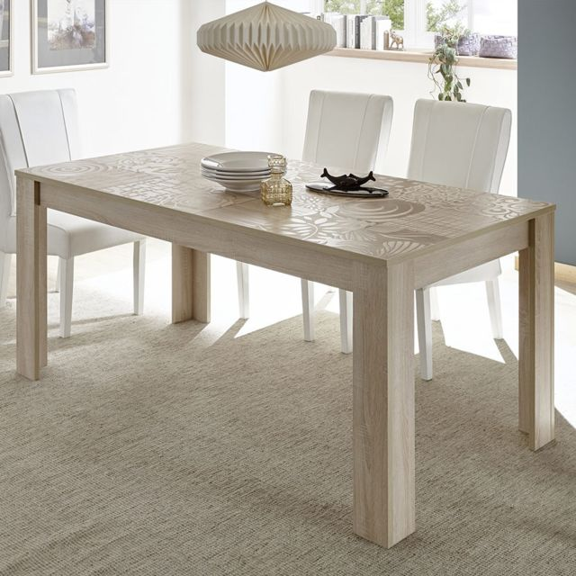 Kasalinea Table 180 cm contemporaine couleur chêne clair Nerina 3