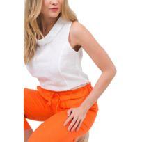 Lin Femme 42Couleur En Orange Pantalon Taille uZTOPXki