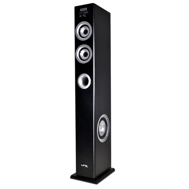 Ltc Colonne multimédia amplifiée noire 100W - Fm/USB/SD/BLUETOOTH