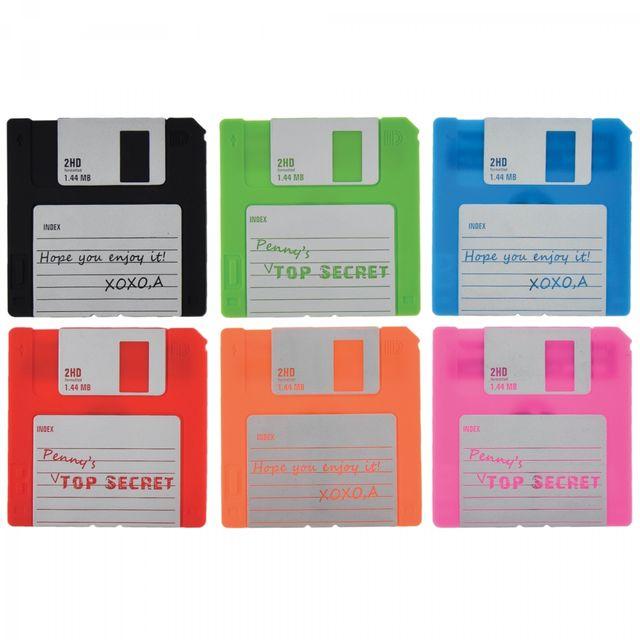 Incidence Dessous De Verre - Forme disquette - Set de 6