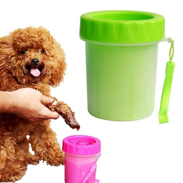 Wewoo Pour animaux de compagnie, bain vert de nettoyage en silicone, taille de tasse: S Produits nettoyants antiseptiques