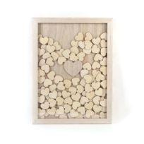 Graines Creatives - Idée mariage : Cadre à messages avec 100 coeurs bois - Graine créative