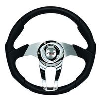 Simoni Racing - Volant tuning Drag Cuir noir