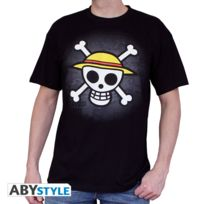 One Piece - T-shirt Skull with map