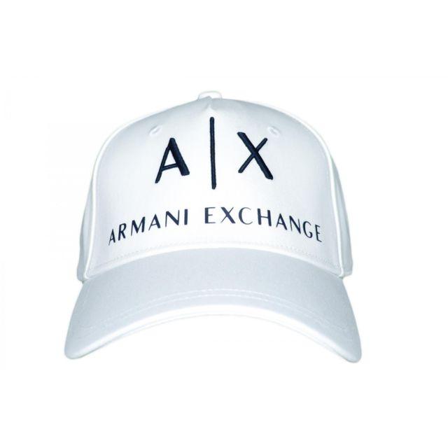 nouveau style gamme de couleurs exceptionnelle super populaire Casquette Armani Exchange blanche pour homme