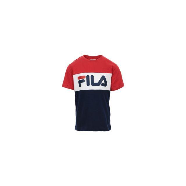 design professionnel réputation fiable rétro Fila - T-shirt Enfant tricolore - pas cher Achat / Vente Tee ...