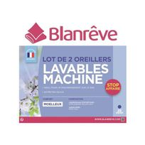 Blanreve - lot de 2 oreillers lavables machine 60x60