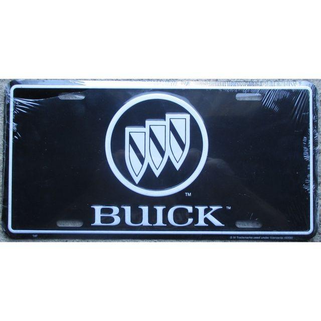 universel plaque d 39 immatriculation buick fond noir tole deco affiche pas cher achat vente. Black Bedroom Furniture Sets. Home Design Ideas