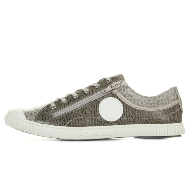 Pataugas Bisk Taupe Gris pas cher Achat Vente Baskets