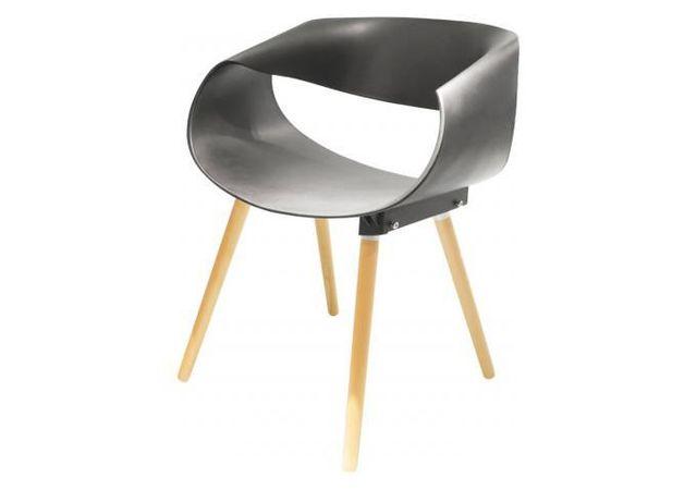 Chaise Design Noire Rolf