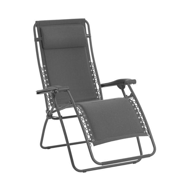 lafuma chaise longue relax rsxa matelass ardoise gris - Chaise Longue Relax