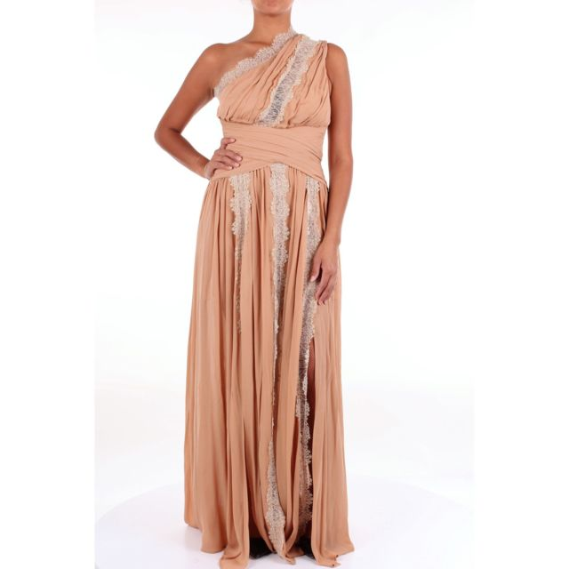 Babylon Femme Hs00880NUDO Or Viscose Robe