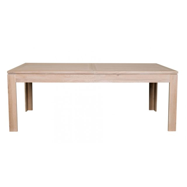 HELLIN Table moderne extensible BOSTON 160 cm en chêne