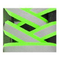 Neon - Lacets réfléchissants plat 125cm vert fluo