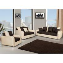 Meublesline - Ensemble canapés 3+2+1 Calypso design avec fauteuil