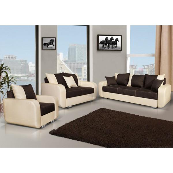Ensemble canapés 3+2+1 Calypso design avec fauteuil