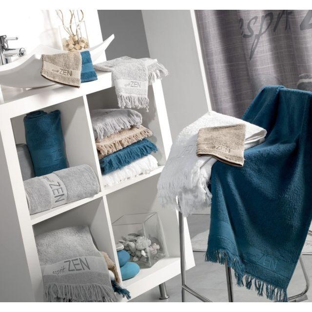 sans marque eponge brod e zen franche 450 gr eponge lot de 2 gants lin pas cher achat. Black Bedroom Furniture Sets. Home Design Ideas