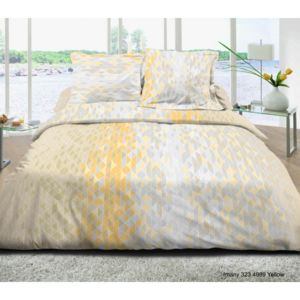 univers decor parure de draps 4 pi ces pour lit 160 x 200 cm grande largeur imany yellow 100. Black Bedroom Furniture Sets. Home Design Ideas