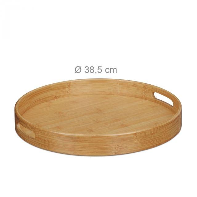 Autre Plateau de service rond en bambou plateau repas 38,5 cm 4313008