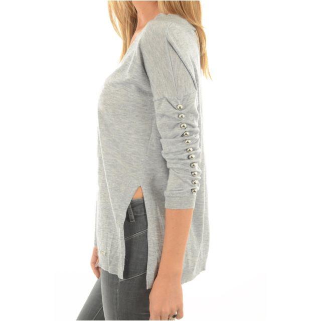 Guess - Pull Droit Fantaisie W74r1d - Jeans - pas cher Achat   Vente Pulls  femme - RueDuCommerce e3d3e7184d0