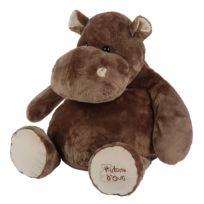 Histoire D'OURS - Peluche géante Hippopotame 80 cm