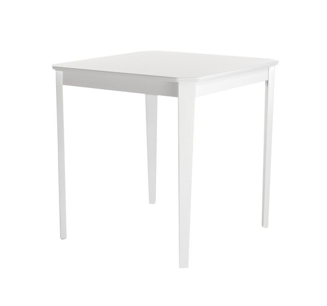Lebrun Table 75 X 75 cm blanche Bristol
