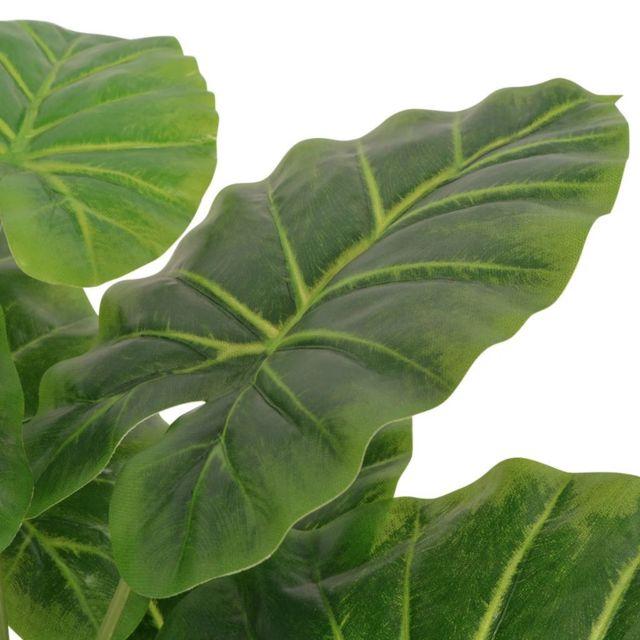 Icaverne Fleurs Et Plantes Artificielles Ligne Plante Artificielle Avec Pot Taro 70 Cm Vert