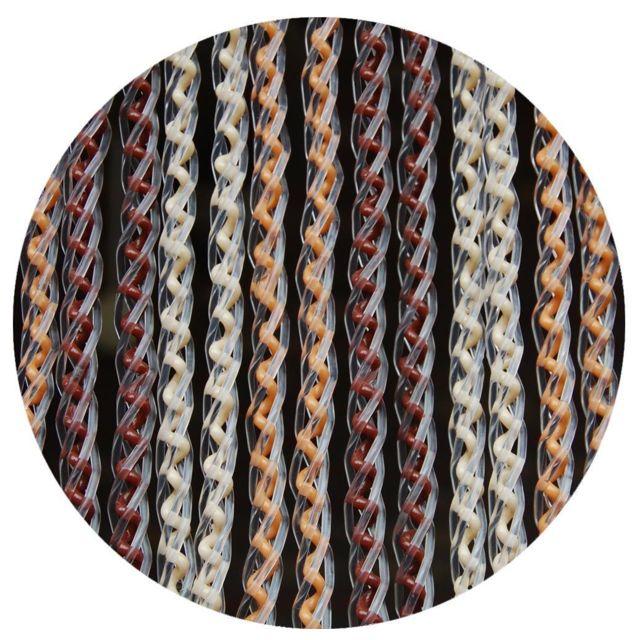La tenda rideau de porte en pvc brun et beige arezzo pas cher achat vente rideaux - Rideaux de porte pas cher ...