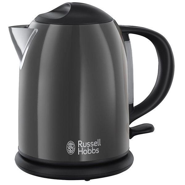 RUSSELL HOBBS bouilloire sans fil compact 1l 2200w gris - 20192-70