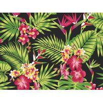Graham And Brown - Papier peint 100% intissé motif plantes et fleurs tropicales 10.05x0.52m Tropical Fever