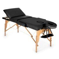 Klarfit - Mt 500 Table de massage pliante 210 cm 200 kg mousse fine -noir