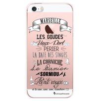 La Coque Francaise - Coque transparente quartiers de Marseille pour Apple iPhone 5/5S