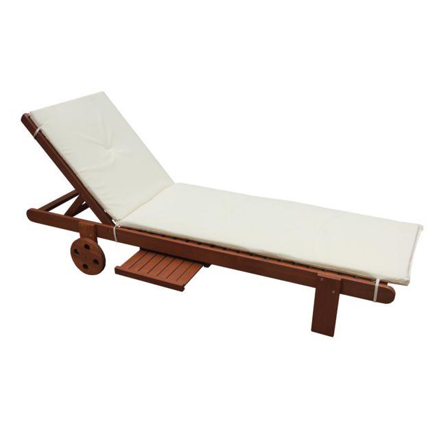 habitat et jardin coussin pour bain de soleil en bois exotique pas cher achat vente le. Black Bedroom Furniture Sets. Home Design Ideas