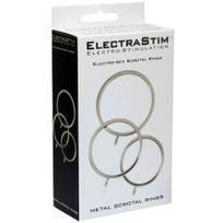Electrastim - 3 Solid Metal Scrotal Ring Set