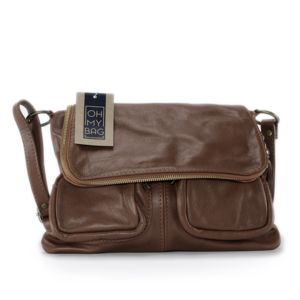 OH MY BAG Sac à Main cuir bandoulière femme - Modèle Avril beige - Soldes ju0RqAU