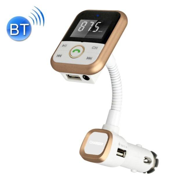 iPad, Transmetteur FM /écran LCD logement pour Carte TF Kit Voiture Mains Libres pour Lecteur MP3 de Voiture avec Ports de Chargement USB Port Audio 3,5mm Port de Lecteur Flash USB pour iPhone
