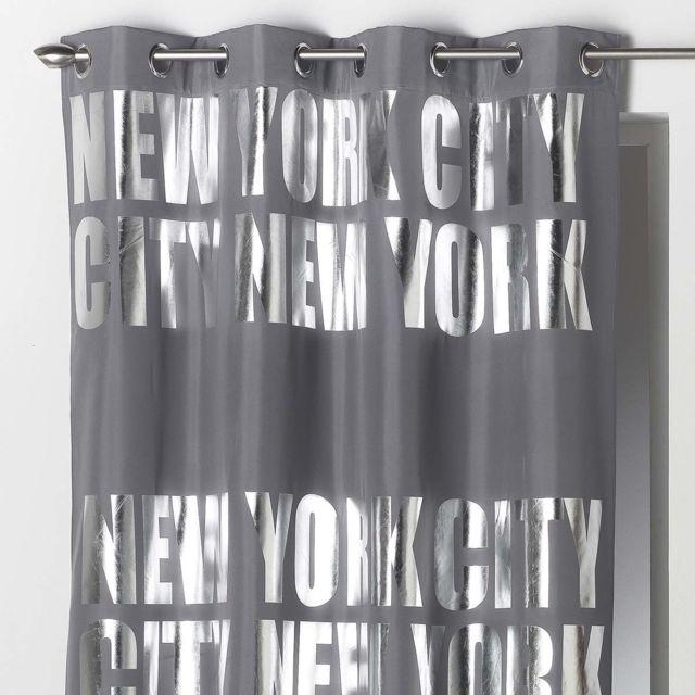 douceur d 39 interieur rideau occultant ny silver gris 140x260 cm pas cher achat vente. Black Bedroom Furniture Sets. Home Design Ideas