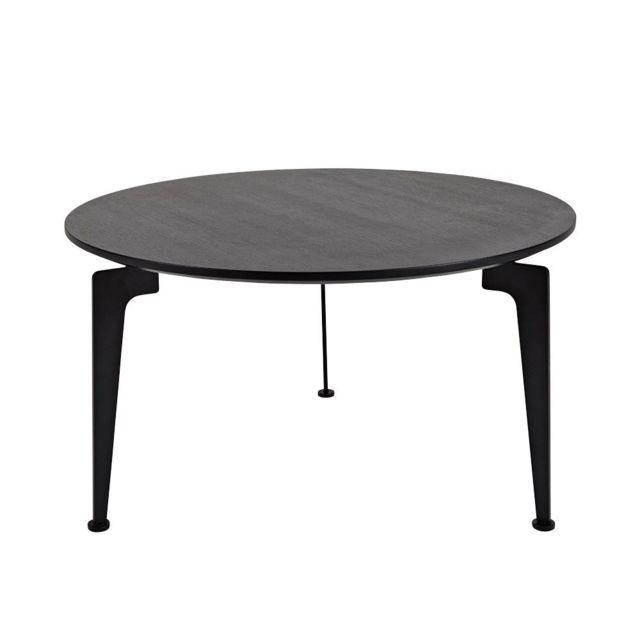 Inside 75 Table basse design scandinave Laser taille L noire