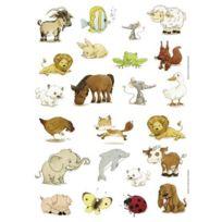 Majuscule - maxi gommette animaux, adhesive repositionnable - pochette de 104