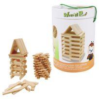 WOOD N PLAY - Baril de 200 planchettes en bois