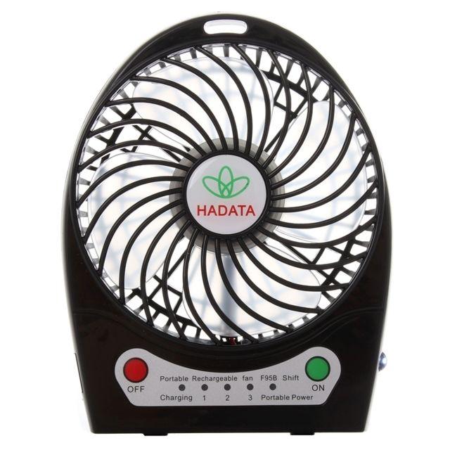 Wewoo Ventilateur noir 4,3 pouces Portable Usb Li ion à