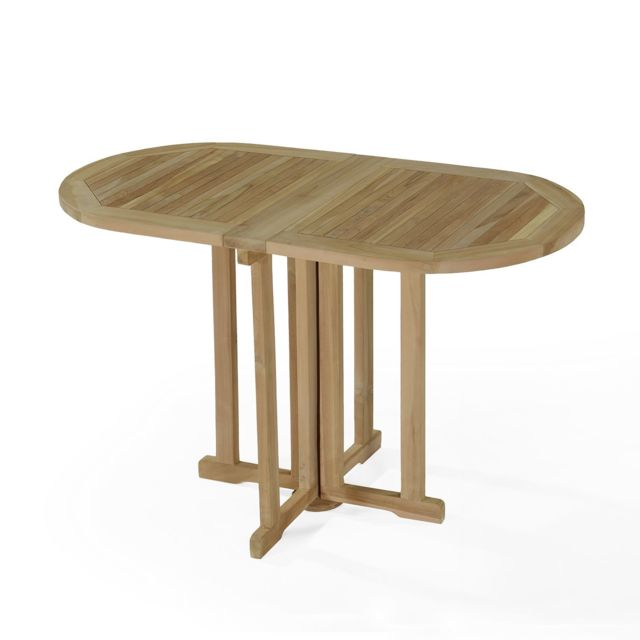 Teck\'ATTITUDE - Table de jardin en Teck Pliable 120 x 60 cm - Manoï ...
