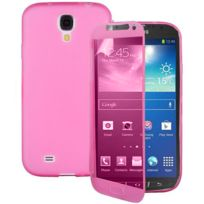 Vcomp - Housse Etui Coque silicone gel Portefeuille Livre rabat pour Samsung Galaxy S4 Active I9295/ I537 Lte - Rose