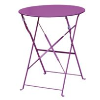 Comforium - Table de terrasse moderne coloris violet