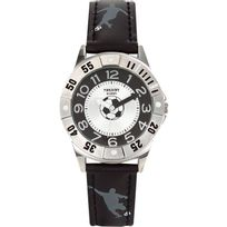 Trendy Junior - Montre Kl177 - Montre Ronde Cuir Noir Enfant