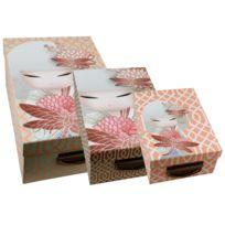 Kontiki - 3 boites de rangement en carton Kimmidoll