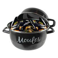 Totally Addict - Marmite à moules Ø24cm en aluminium tous feux