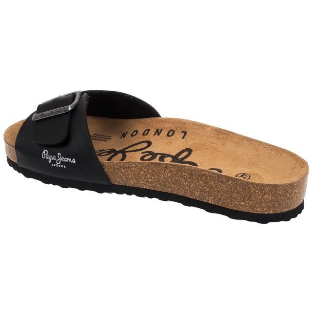 Pepe Jeans - Claquettes mules Bio man black matt Noir 21183