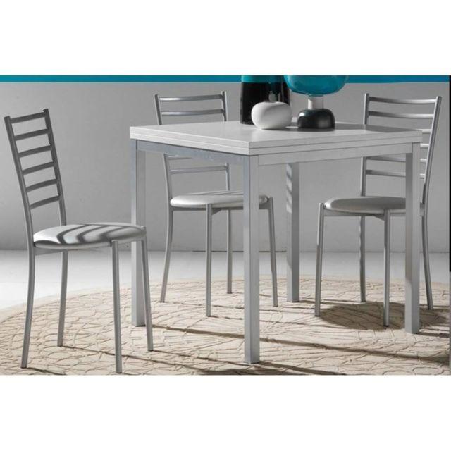 Inside 75 Table repas extensible Web design 80 160/80 cm blanche